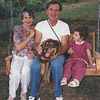 Mom and dad with granddaughter Rachel Farnell and Lucky ... click for a larger version of this image.