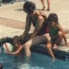 Mom swimming with Lauren, Keely, and Mandy ... click for a larger version of this image.